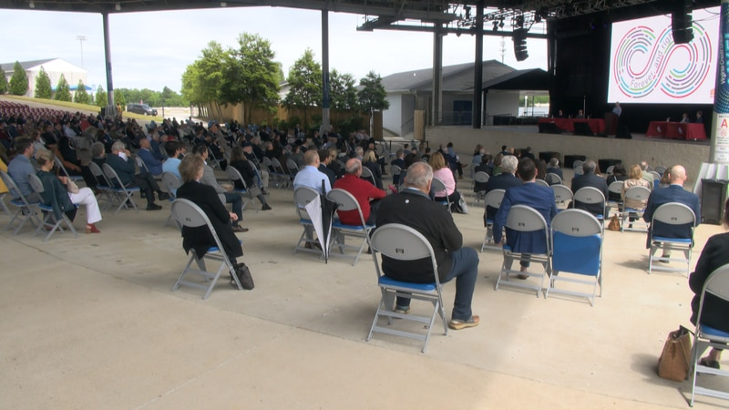 Dozens gathered for the Markel Corporation annual shareholders meeting which was held outdoors...