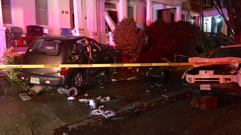 A car crashed into a home in Richmond.