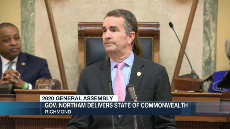 Governor Northam delivered his State of the Commonwealth address tonight.