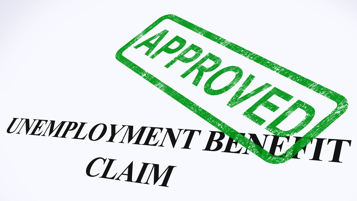 Unemployment Benefit Claim Approved Stamp Showing Social Security Welfare Agreed