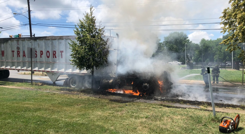 The Richmond Fire Department responded to the fire on Maury Street on Tuesday afternoon.
