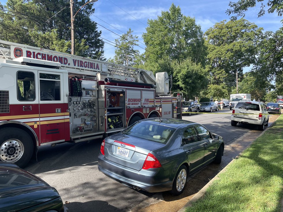 Crews respond to a Richmond house fire.