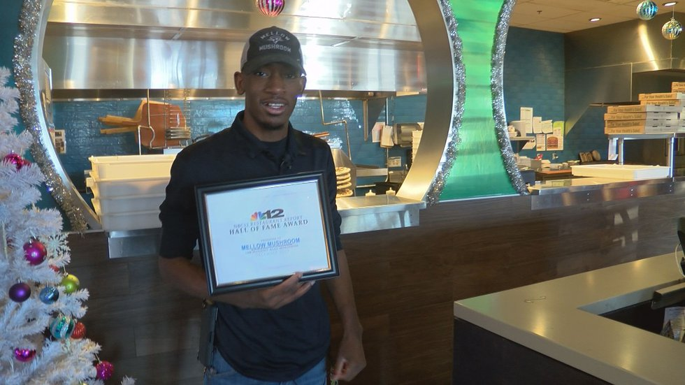 This week's Hall of Fame Award winner is the Mellow Mushroom on Huguenot Road in Midlothian.