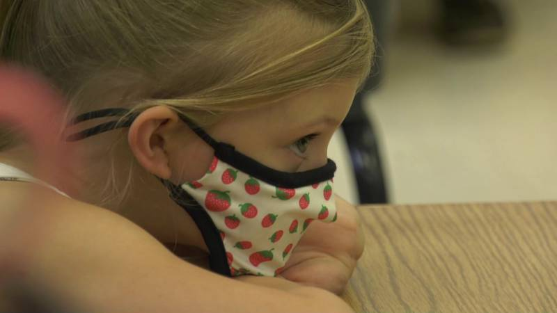Some children may begin to feel mask anxiety as they see fully vaccinated people remove their...