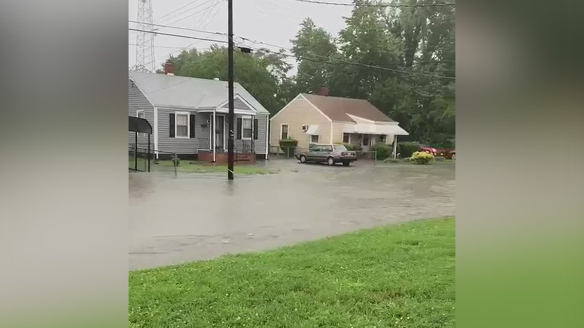 Flash flooding has caused several road closures in Petersburg on Friday evening.