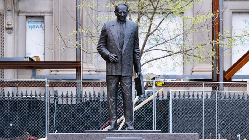 A statue of Harry Byrd Sr. in Capitol Square will get signage noting his role as the architect...