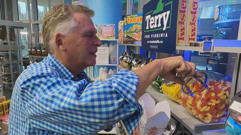 Democratic candidate for Governor Terry McAuliffe highlighted the American Rescue Plan during a...