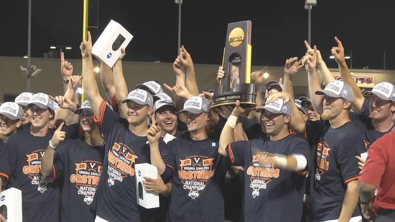 Virginia Baseball celebrates its 2015 College World Series victory