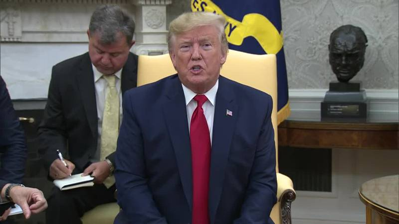 President Donald Trump said on Wednesday he's too busy to follow the impeachment proceedings...