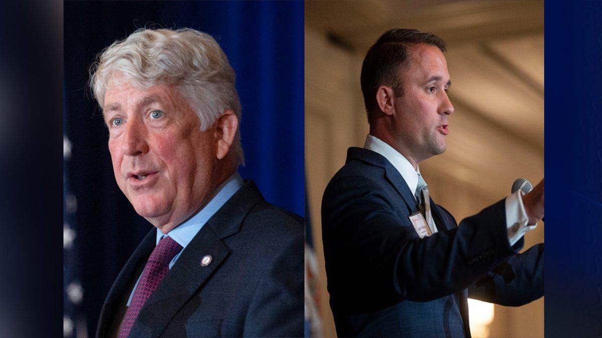 Virginia Attorney General Mark Herring and Virginia Republican Lt. Governor candidate Jason...