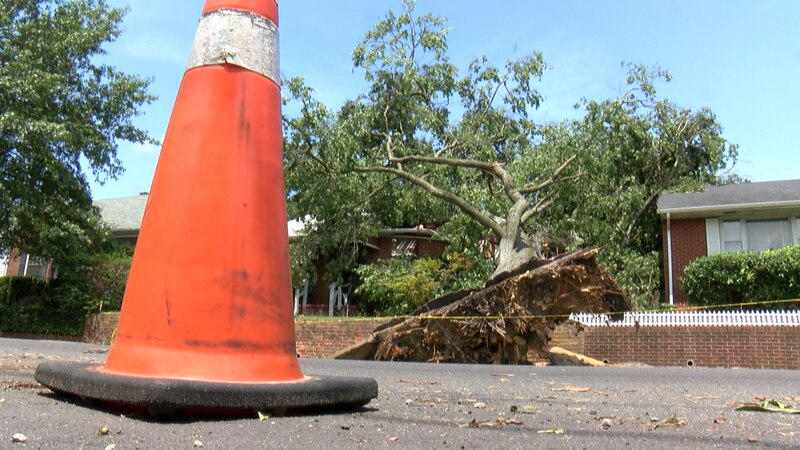Church Hill residents are cleaning up the damage left behind by storms.