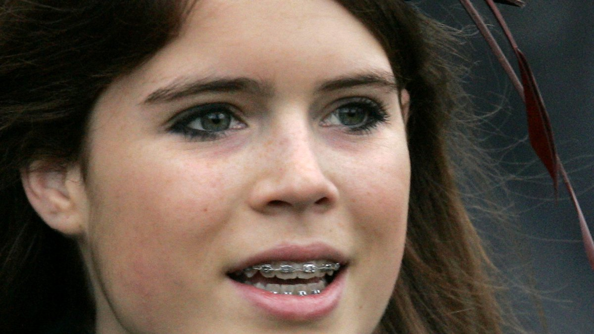 FILE-This dec. 25, 2006 file photo shows  Princess Eugnie wearing braces on her teeth, Princess...