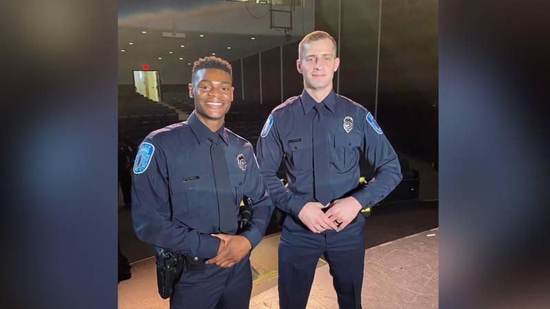 Ofc. Parker Davis and Ofc. Luke Hunsaker