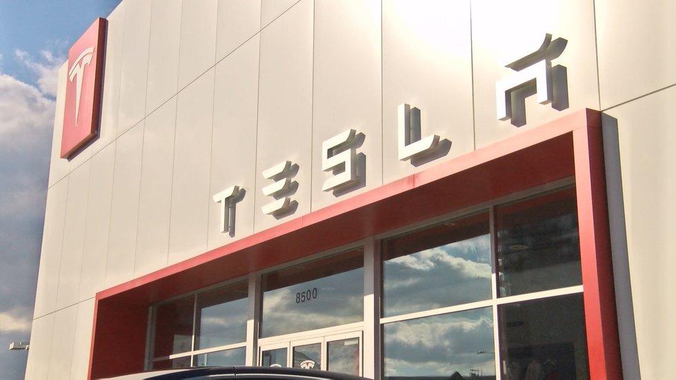 Tesla's design studio in Tysons Corner, Virginia. Photo NBC12.