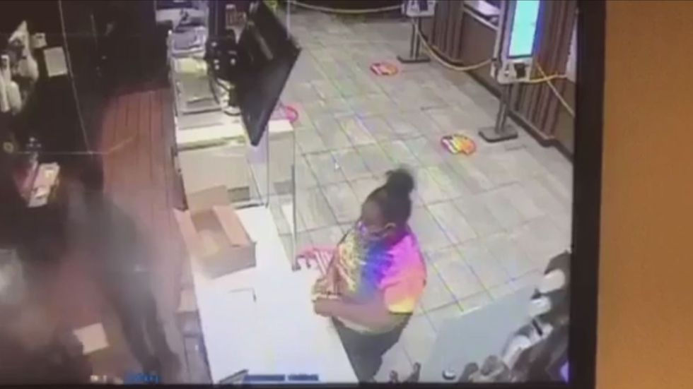 The suspect is described as wearing a tie-dye shirt who may have left the scene in a...