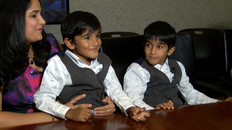 Nevaan Kothari and Riann Kothari are now among the youngest inventors in the world. (Source:...