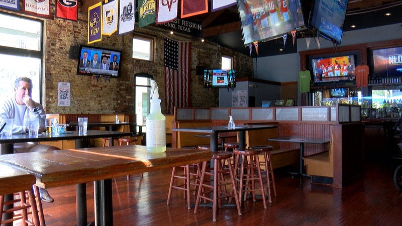 The bar says they're seeing about half the business they usually see during football season.