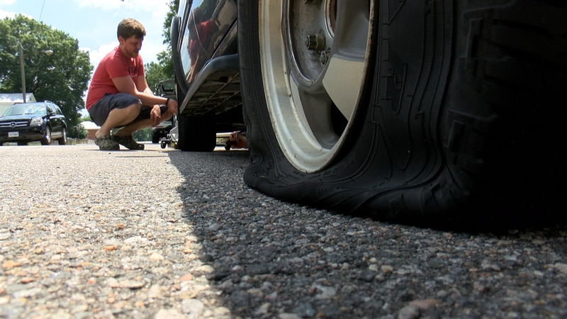Tires were slashed along streets in the Highland Park Southern Tip community this weekend.