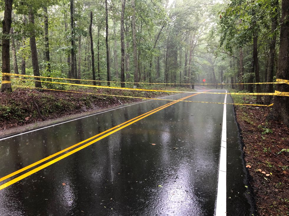 Parts of Otterdale Road were closed on Saturday morning after rainfall flooded many county roads.