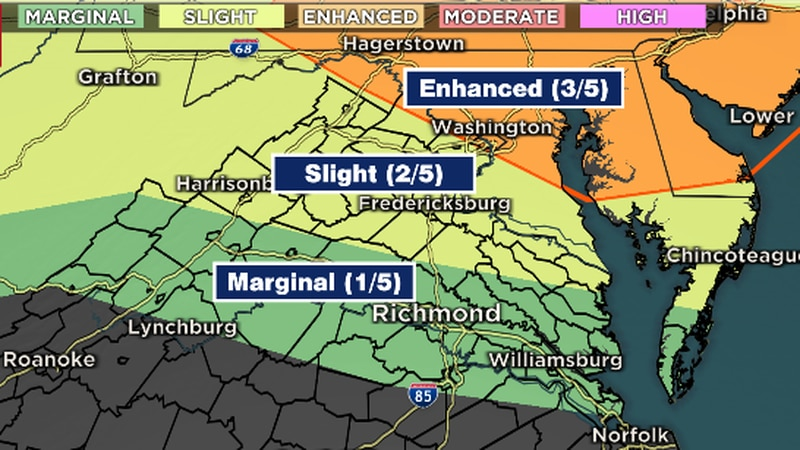 Severe possible this afternoon/evening