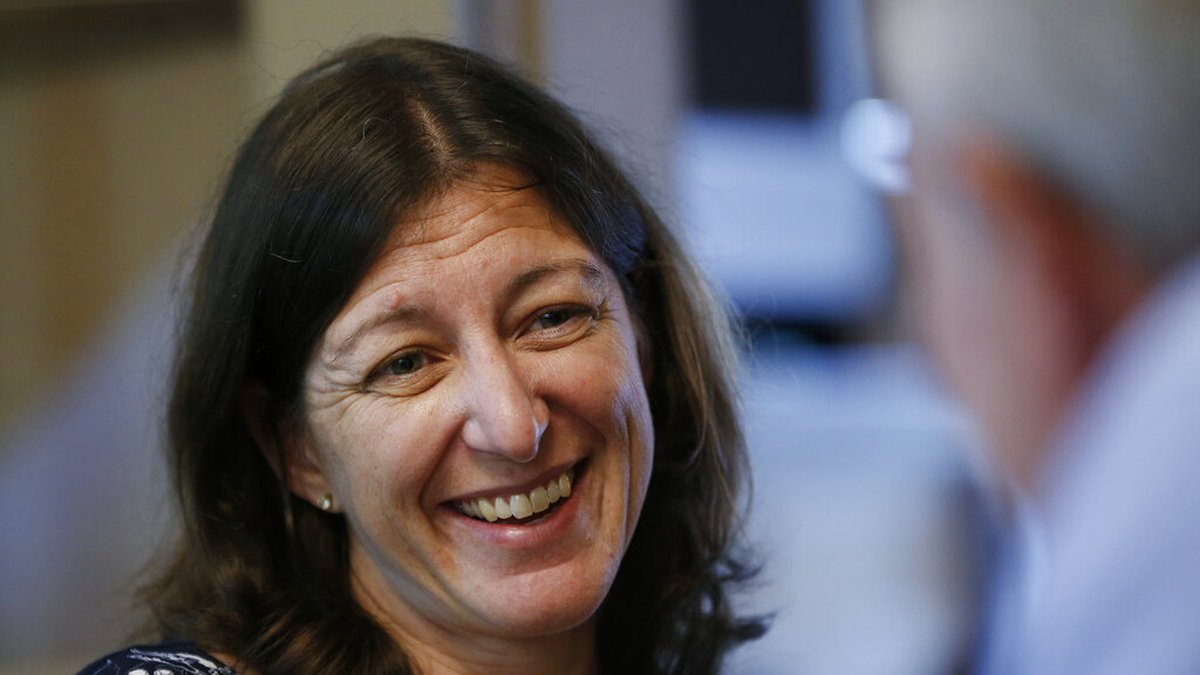 File This Thursday Oct. 3, 2019 file photo shows US Congresswoman Elaine Luria, D-2nd Va., in...