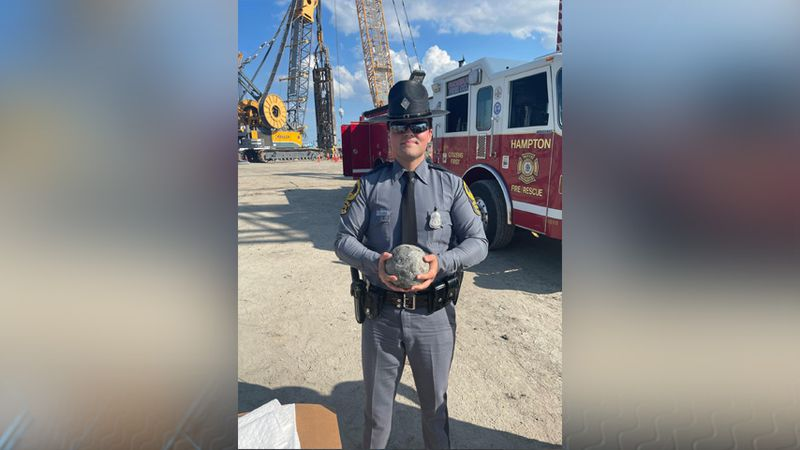 A cannonball was found during a major construction project in Virginia.