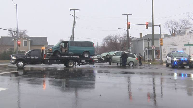 Richmond police say two cars were turning when the collision happened near Decatur Street.