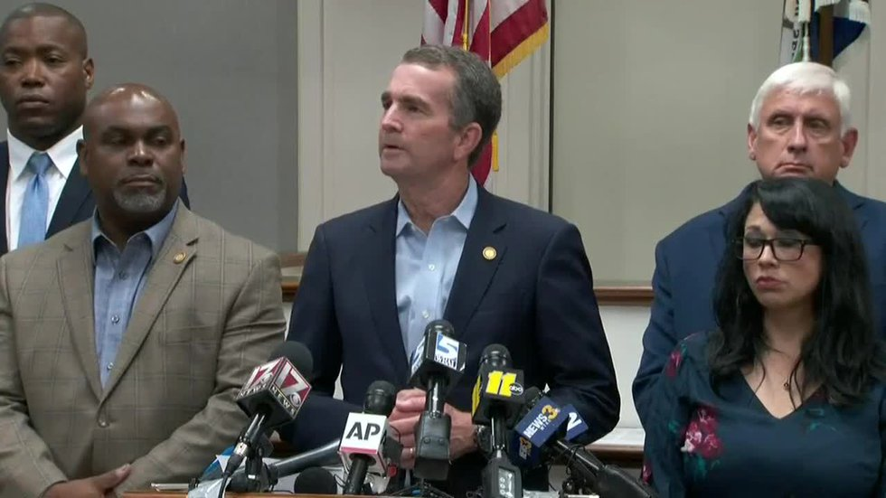 Governor Northam and Virginia Beach city officials hold Saturday afternoon press conference