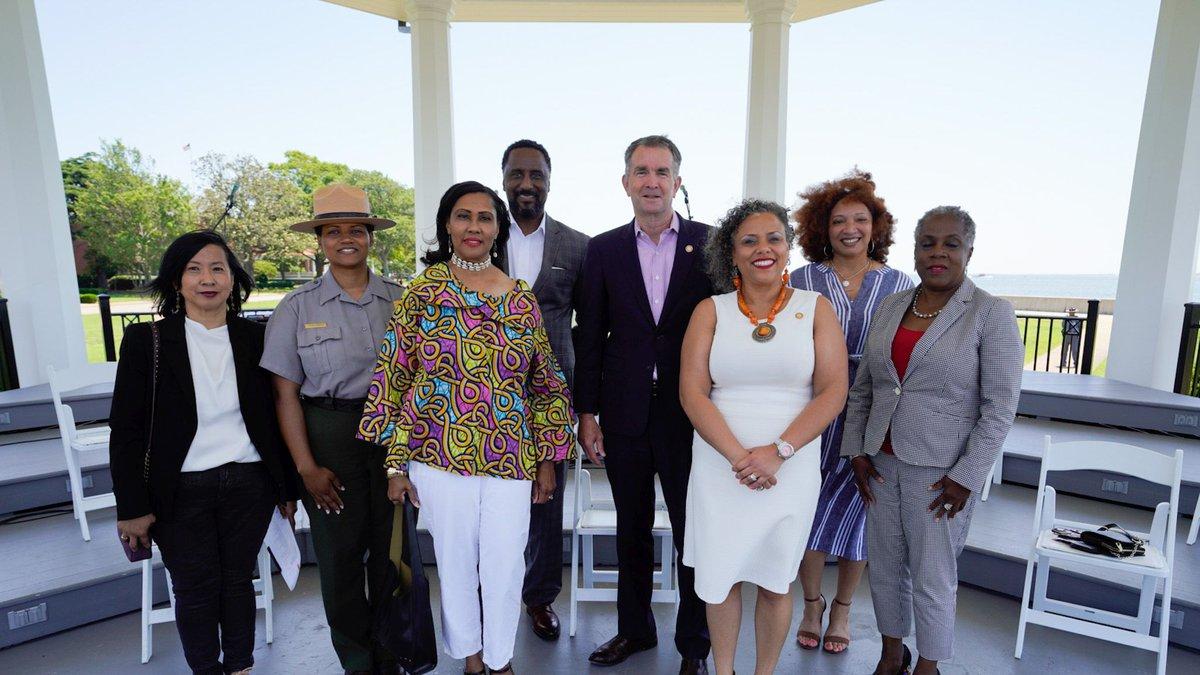 Northam attends Juneteenth event in Hampton, Va.