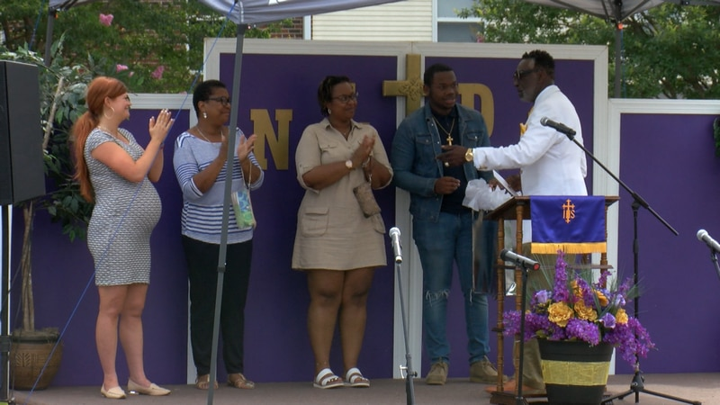 Two George Wythe High School students were honored for their accomplishments during a Sunday...
