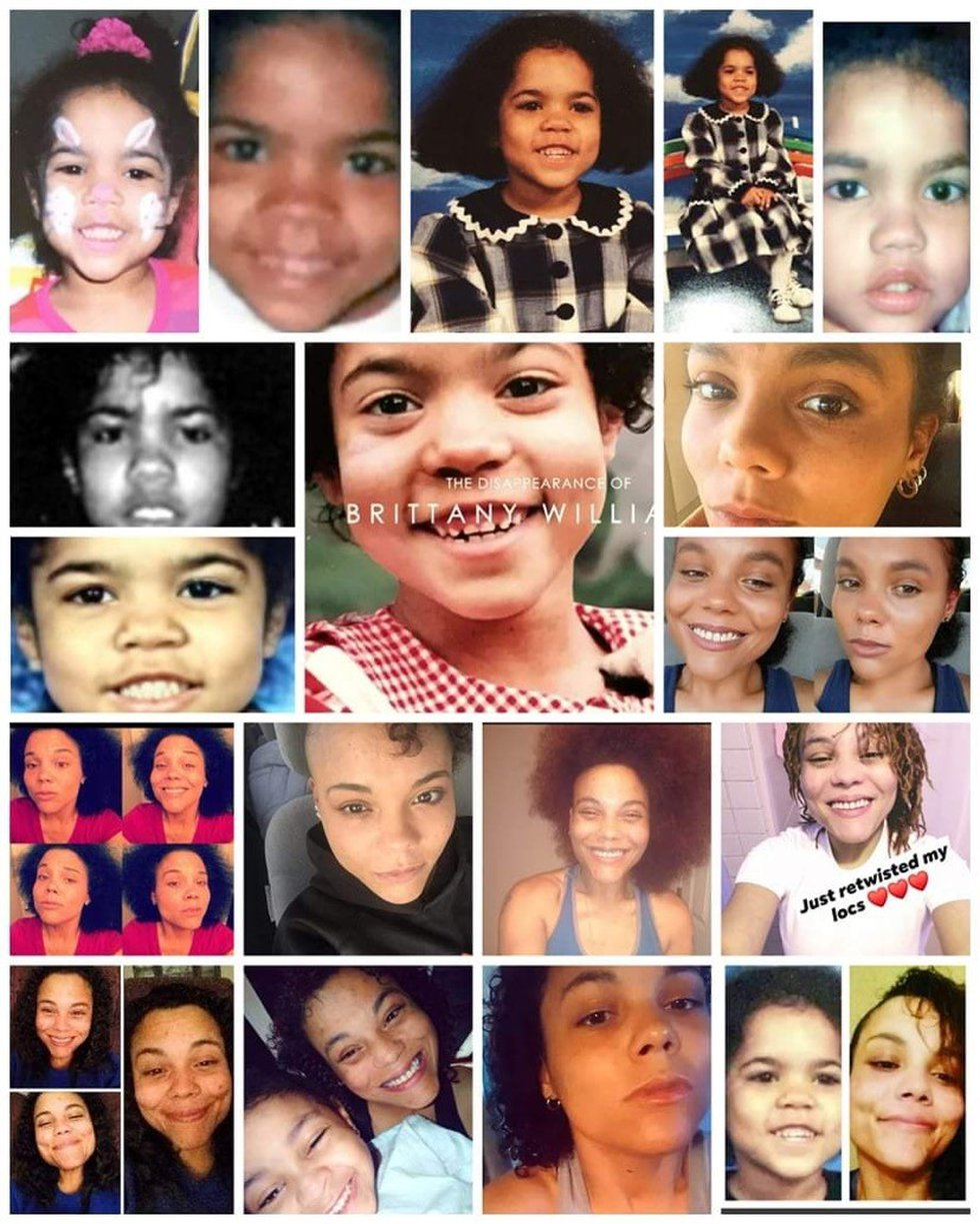 A collage made by Kaylynn Stevenson's wife. Stevenson says DNA evidence proves she is Brittany...