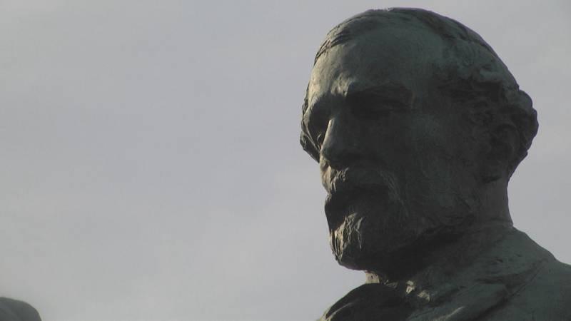 The Robert E. Lee Statue in Charlottesville's Market Street Park.
