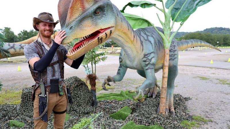 Captain Caleb at Jurassic Quest