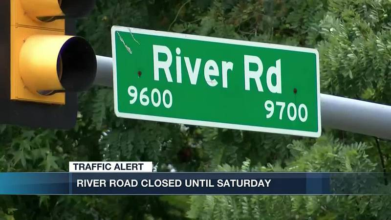 Section of River Road closed for broken sewer line