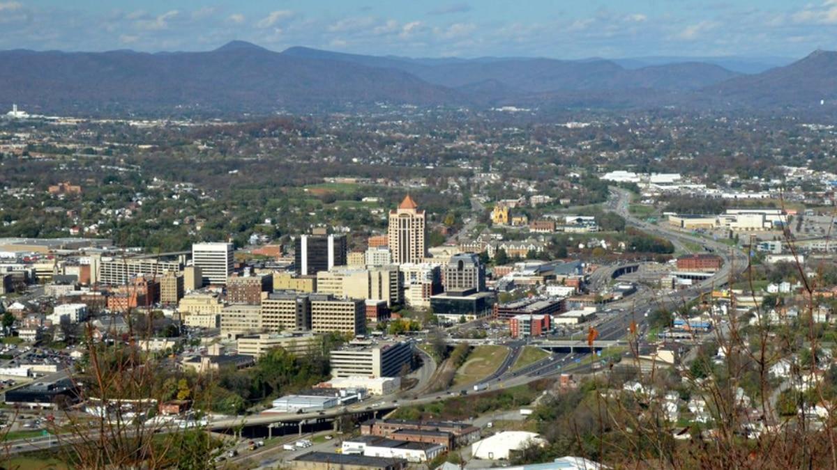 Roanoke, Virginia skyline.