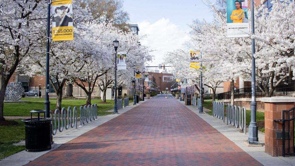 After Virginia Commonwealth University closed in March, Monroe Park campus was empty. Students...