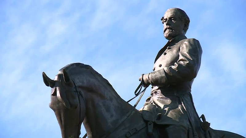 Wednesday, contractors for the state will take the controversial confederate statue off its...