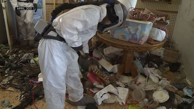 After two months of hard work, 81-year-old Gene's home of 40 years is no longer a hoard. Hazmat...