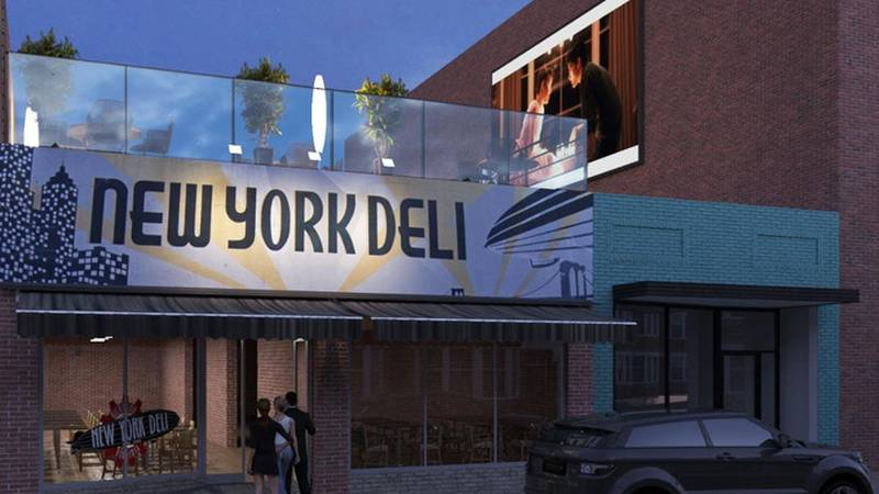 New York Deli rooftop venue renderings