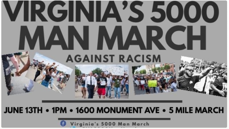 The event will begin on Monument Avenue and will end at the Robert E. Lee Monument from 1 p.m....