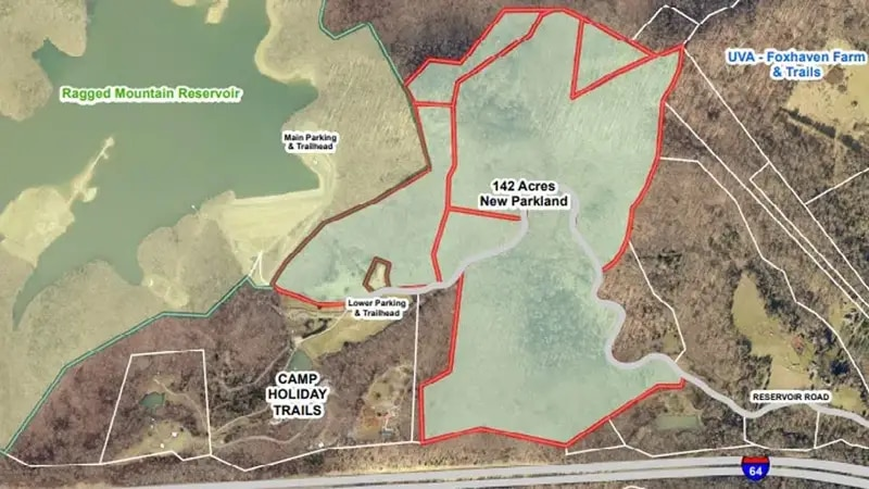 Charlottesville has purchased 142 acres of forested land adjacent to the Ragged Mountain...