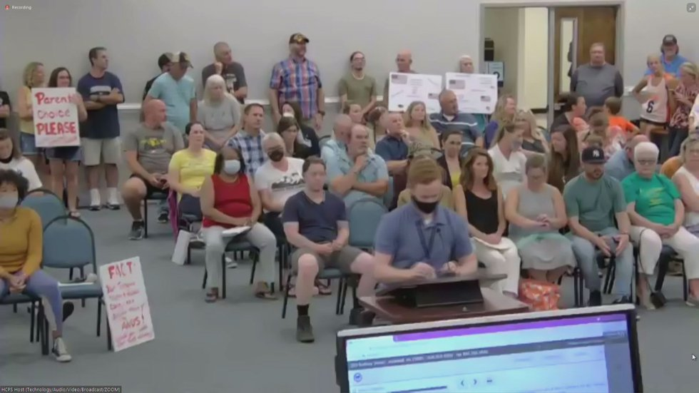 Parents yelled out-of-turn at the Hanover County School Board meeting Tuesday night, insisting...