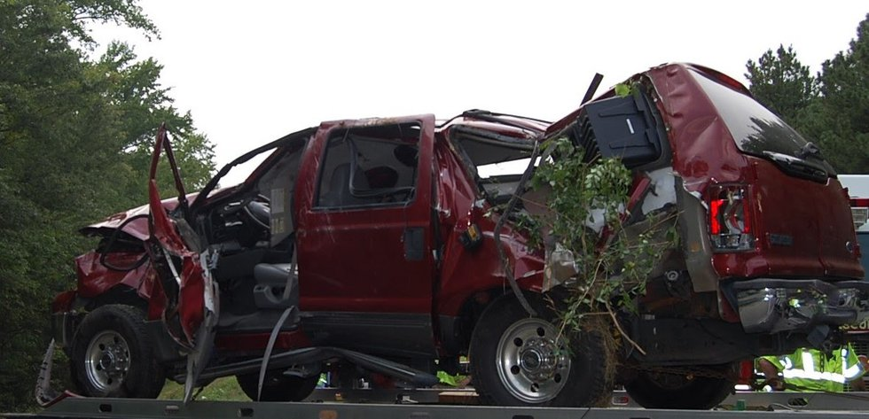 According to the investigation, a 2005 Ford Excursion pulling a travel trailer made hit a...