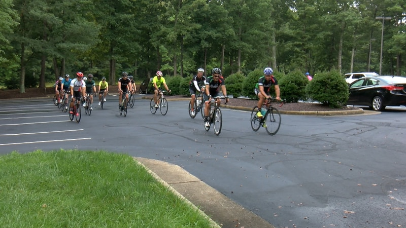 Over one dozen cyclists held a memorial bike ride to honor Lieutenant Jay Cullen.