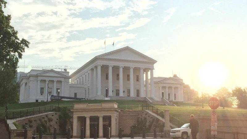 Virginia State Capitol, morning of May 12, 2015