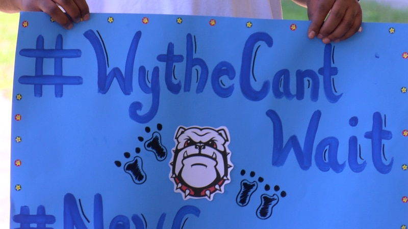 The community rallied for a new George Wythe High School on Saturday.
