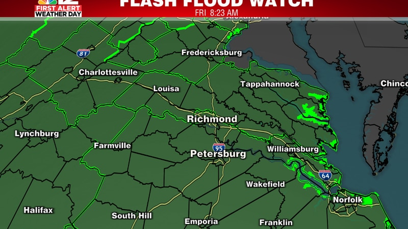 Heavy rain could trigger flash flooding