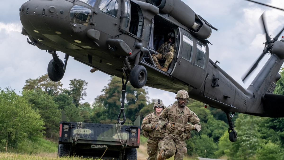 Virginia National Guard Soldiers assigned to the Lynchburg-based 1st Battalion, 116th Infantry...
