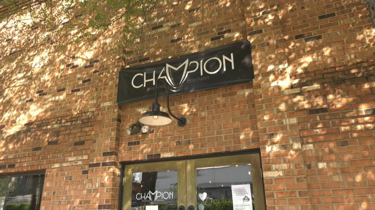 The outside of Champion Brewing located in Charlottesville
