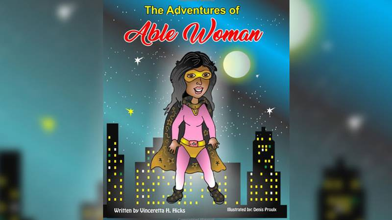 'Able Woman' is a superhero that this married mother of five has brought to life for years...